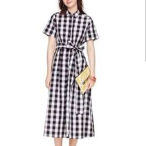 Kate Spade | Broome Street Gingham Shirtdress NWT
